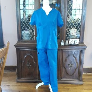 Crocs medical apparel blue scrubs size medium